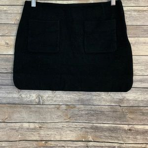 Sezane Black Wool Blend Mini Skirt